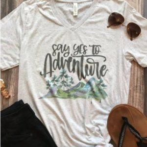 NEW Say yes to Adventure Graphic Tee Short Sleeves
